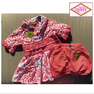 NWT Gorgeous Oilily Baby Girl Set Sz. 92 (US 2$
